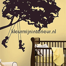 Kids on Swings interieurstickers RoomMates abstract modern
