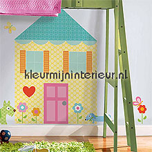 Doll house autocolantes decoracao York Wallcoverings Beb�s Crian�as