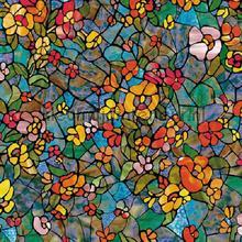 Gekleurde bloemen plakfolie DC-Fix raamfolie