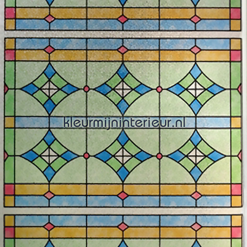 Verwijderbaar Glas Of Zeer Stevige Kwaliteit Glas In Lood Raam 61450 0019 Abbey Plakfolie Van Lineafix